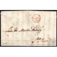 CANARIAS. 1855. ESPAÑA. SPAIN. GRANADILLA A SANTA CRUZ DE TENERIFE.