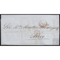 CANARIAS. 1856. ESPAÑA. SPAIN. SANTA CRUZ DE TENERIFE A ARICO.