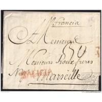1782. ESPAÑA. SPAIN. LA CORUÑA A MARSELLA. MARSEILLE. FRANCIA. FRANCE.