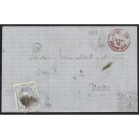 CASTELLON. 1870/1871. ESPAÑA. SPAIN. 50 MILS. ED. 107. SAN MATEO A VALLS. 2 CARTAS.