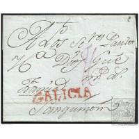 1792. ESPAÑA. SPAIN. CORUÑA A FRANCIA.
