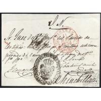 CIUDAD REAL. 1854. ESPAÑA. SPAIN. ED. 24. ALCARAZ A CHINCHILLA.
