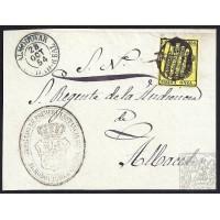 CIUDAD REAL. 1854. ESPAÑA. SPAIN. MEDIA ONZA. ED. 28. ALMODOVAR A ALBACETE.