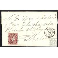 CIUDAD REAL. 1859. ESPAÑA. SPAIN. 4 CUARTOS. ED. 48. ALMODOVAR A MADRID.