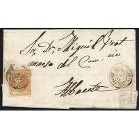 CIUDAD REAL. 1861. ESPAÑA. SPAIN. 4 CUARTOS. ED. 52. TOMELLOSOS A ALBACETE.