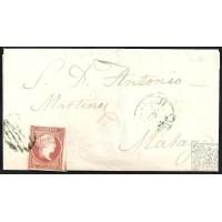 CORDOBA. 1857. ESPAÑA. SPAIN. 4 CUARTOS. ED. 48. BENAMEJI A MALAGA.