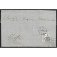 CORDOBA. 1873. ESPAÑA. SPAIN. 10 CUARTOS. ED. 121. CORDOBA A ZAFRA.