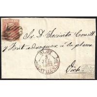GIRONA. 1852. ESPAÑA. SPAIN. 6 CUARTOS. ED. 12. OLOT A VIC.
