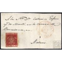 GIRONA. 1854. ESPAÑA. SPAIN. 6 CUARTOS. ED. 24. LA BISBAL A MATARO.
