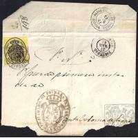 GIRONA. 1861. ESPAÑA. SPAIN. MEDIA ONZA. ED. 35. FIGUERES A SANTA COLOMA DE FARNERS.