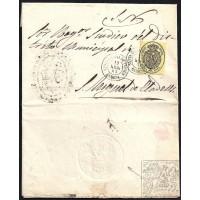 GIRONA. 1863. ESPAÑA. SPAIN. SANTA COLOMA DE FARNERS A SANT MIQUEL DE CLADELLS.