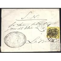 GIRONA. 1863. ESPAÑA. SPAIN. MEDIA ONZA. ED. 35. GIRONA A LA BISBAL.