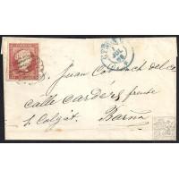 GIRONA. 1856. ESPAÑA. SPAIN. 4 CUARTOS. ED. 44. GIRONA A BARCELONA.
