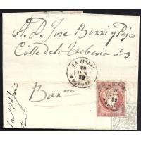GIRONA. 1859. ESPAÑA. SPAIN. 4 CUARTOS. ED. 48. LA BISBAL A BARCELONA.