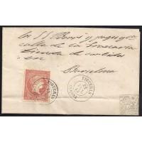 GIRONA. 1859. ESPAÑA. SPAIN. 4 CUARTOS. ED. 48. FIGUERES A BARCELONA.