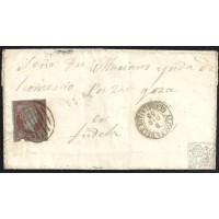 GUADALAJARA. 1855. ESPAÑA. SPAIN. 4 CUARTOS. ED. 40. ALCOLEA DEL PINAR A TUDELA.