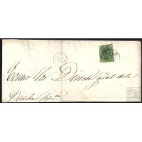 HUELVA. CIRCA 1862. ESPAÑA. SPAIN. 4 ONZAS. ED. 37. HUELVA A MADRID.
