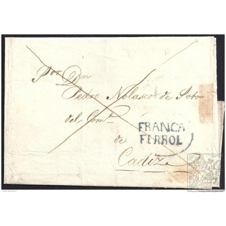 1834. ESPAÑA. SPAIN. FERROL A CADIZ.