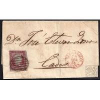 HUELVA. 1855. ESPAÑA. SPAIN. 4 CUARTOS. ED. 40. GIBRALEON A CADIZ.