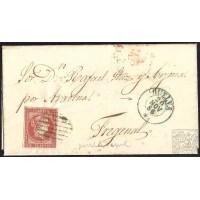 HUELVA. 1856. ESPAÑA. SPAIN. 4 CUARTOS. ED. 48. CORTEGANA A FREGENAL.