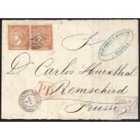 GUIPUZCOA. 1866. ESPAÑA. SPAIN. 12 CUARTOS. ED. 82. TOLOSA A PRUSIA.