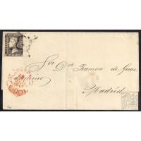 LA CORUÑA. 1850. ESPAÑA. SPAIN. 6 CUARTOS. ED. 1A. CORUÑA A MADRID.