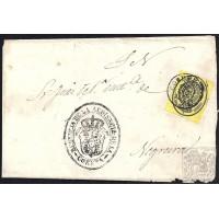 LA CORUÑA. 1859. ESPAÑA. SPAIN. MEDIA ONZA. ED. 35. CORUÑA A NEGREIRA.