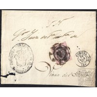 LA CORUÑA. 1861. ESPAÑA. SPAIN. UNA ONZA. ED. 36. CORUÑA A VIANA DEL BOLLO.