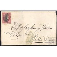 LA CORUÑA. 1857. ESPAÑA. SPAIN. 4 CUARTOS. ED. 48. MUROS A PUEBLA DEL DEAN.