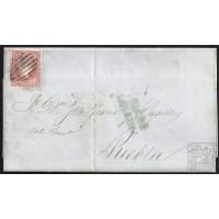 LA CORUÑA. 1857. ESPAÑA. SPAIN. 4 CUARTOS. ED. 48. ESTEYRO A PUEBLA.