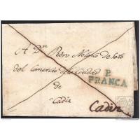 1832. ESPAÑA. SPAIN. SANGENJO A CADIZ.