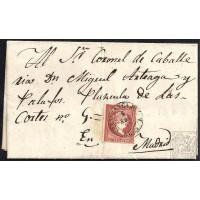 LEON. 1859. ESPAÑA. SPAIN. 4 CUARTOS. ED. 58. VILLAFRANCA DEL BIERZO A MADRID.