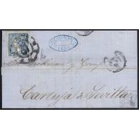 LEON. 1866. ESPAÑA. SPAIN. 4 CUARTOS. ED. 81. LEON A SEVILLA.