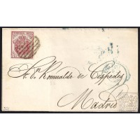 LUGO. 1855. ESPAÑA. SPAIN. 4 CUARTOS. ED. 33A. LUGO A MADRID.