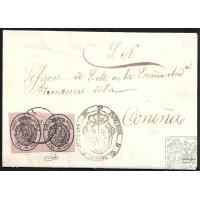 LUGO. 1859. ESPAÑA. SPAIN. UNA ONZA. ED. 36. SARRIA A CORUÑA.