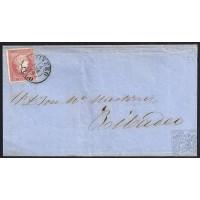 LUGO. 1859. ESPAÑA. SPAIN. 4 CUARTOS. ED. 48. VIVERO A RIBADEO.