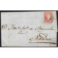 LUGO. 1859. ESPAÑA. SPAIN. 4 CUARTOS. ED. 48. VIVERO A RIVADEO.
