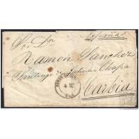 1854. ESPAÑA. SPAIN. BUENOS AIRES A CARBIA.