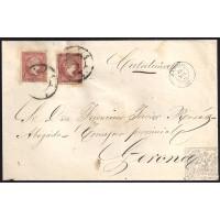 MADRID. 1859. ESPAÑA. SPAIN. 4 CUARTOS. ED. 48 (2). MADRID A GERONA.