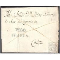 1832. ESPAÑA. SPAIN. BOUZAS A CADIZ.