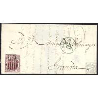 MALAGA. 1855. ESPAÑA. SPAIN. 4 CUARTOS. ED. 33. MALAGA A GRANADA.