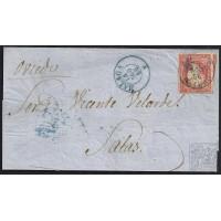 MALAGA. 1856. ESPAÑA. SPAIN. 4 CUARTOS. ED. 44. MALAGA A SALAS.