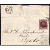 VALENCIA. 1863. ESPAÑA. SPAIN. 4 CUARTOS. ED. 58. VALENCIA A SEGORBE.