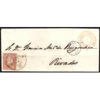 VIZCAYA. 1858. ESPAÑA. SPAIN. 4 CUARTOS. ED. 48. BILBAO A RIVADEO.