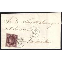 ZAMORA. 1863. ESPAÑA. SPAIN. 4 CUARTOS. ED. 58. TORO A TORDESILLAS.