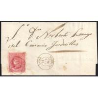 ZAMORA. 1864. ESPAÑA. SPAIN. 4 CUARTOS. ED. 64. TORO A TORDESILLAS.
