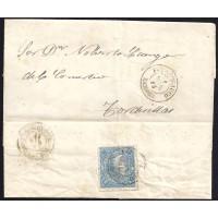 ZAMORA. 1865. ESPAÑA. SPAIN. 4 CUARTOS. ED. 75. FUENTESAUCO A TORDESILLAS.
