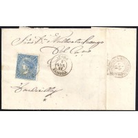 ZAMORA. 1865. ESPAÑA. SPAIN. 4 CUARTOS. ED. 75. TAGARABUENA A TORDESILLAS.