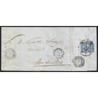 ZAMORA. 1865. ESPAÑA. SPAIN. 4 CUARTOS. ED. 75. BENAVENTE A TORDESILLAS.