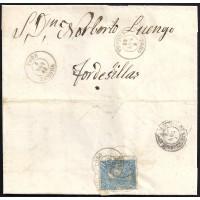 ZAMORA. 1865. ESPAÑA. SPAIN. 4 CUARTOS. ED. 75. TORO A TORDESILLAS.